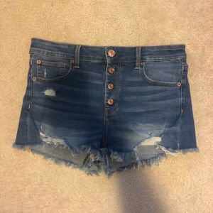 WORN ONCE super stretch high waisted shorts